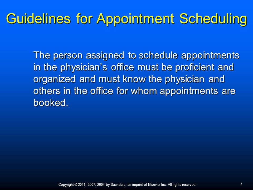Scheduling Appointments - ppt video online download