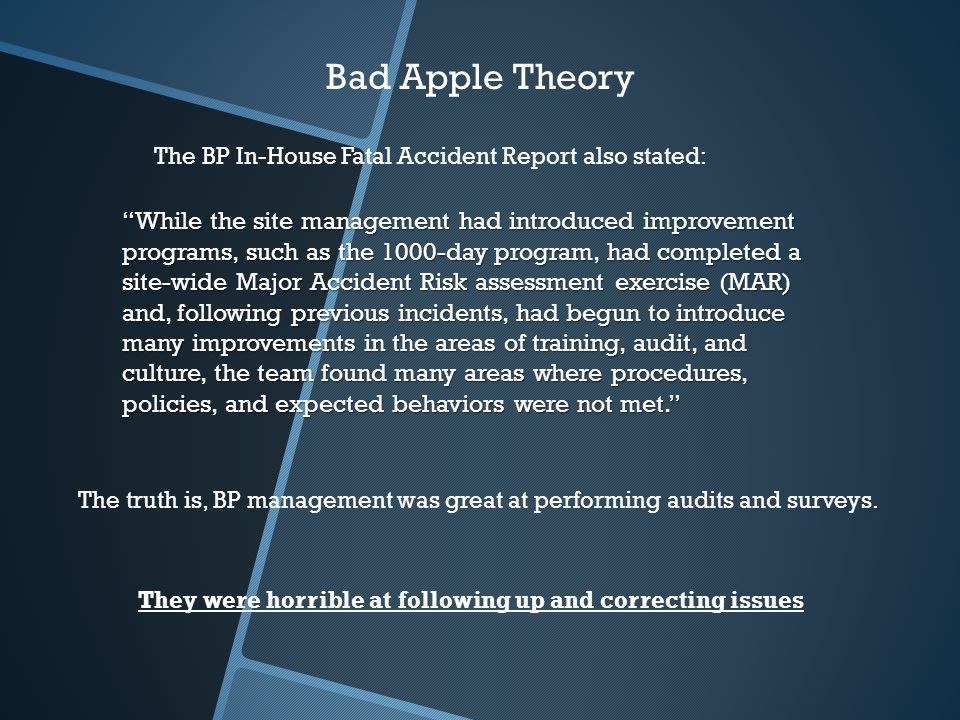 the rotten apple theory in society History & society historical fiction  //wwwnprorg/player/embed/136017612/136136934 width  benjamin franklin had it as the rotten apple spoils.