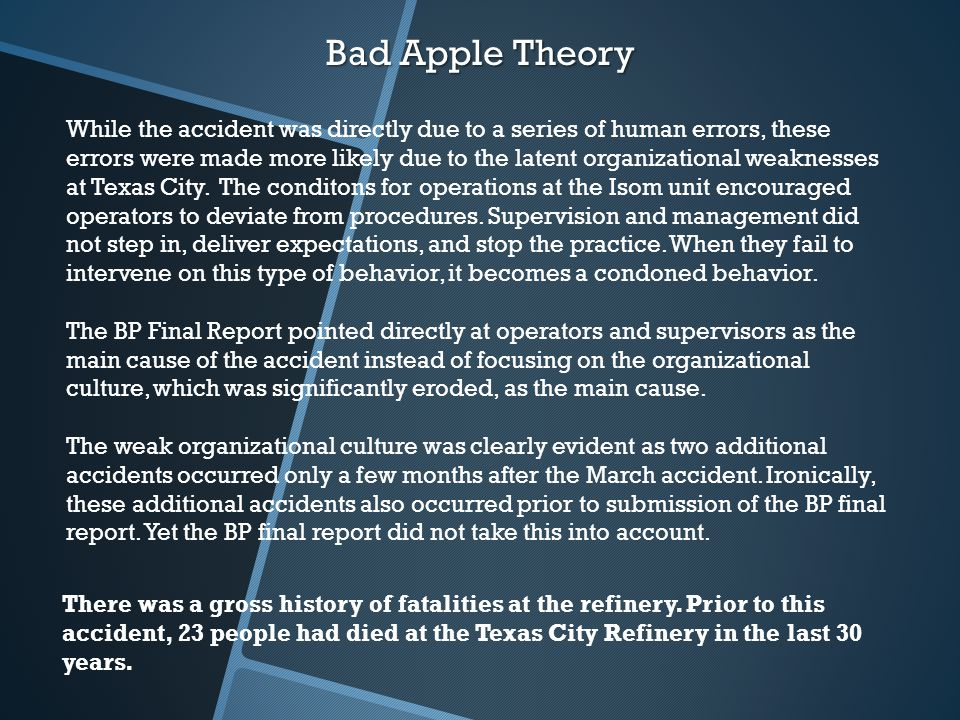 the rotten apple theory in society Rotten apple definition: you can use rotten apple to talk about a person who is dishonest and therefore causes a | meaning, pronunciation, translations and examples.