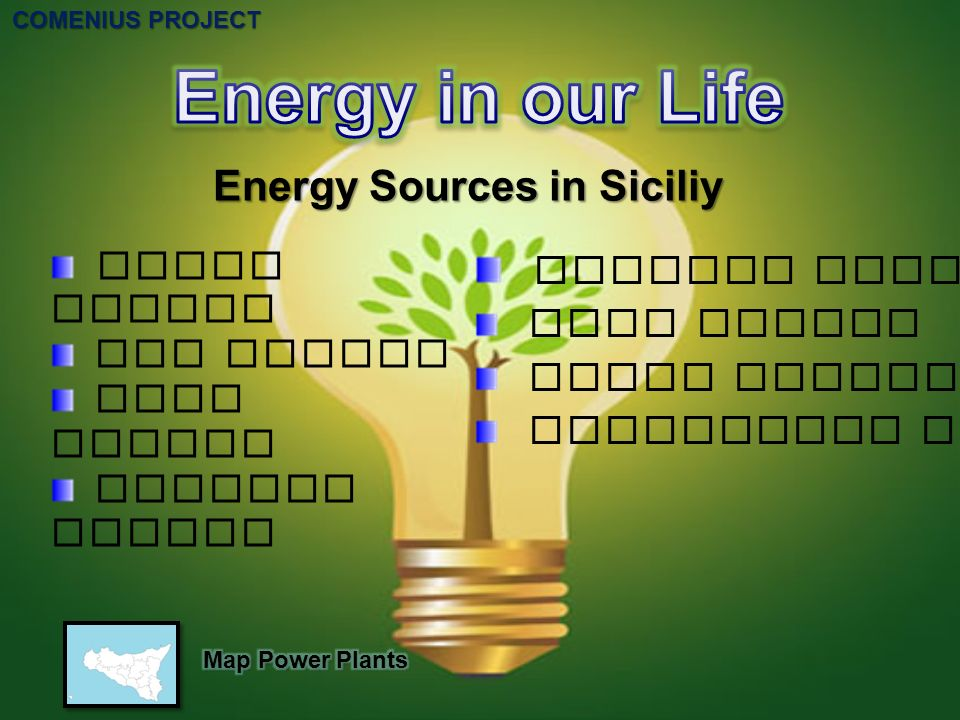 Energy Sources in Siciliy