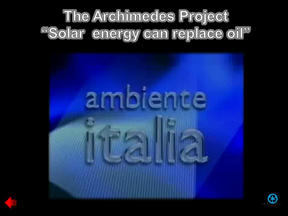 The Archimedes Project Solar energy can replace oil