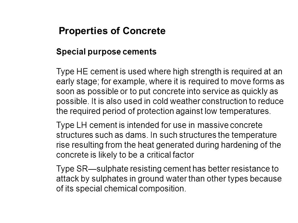 the special properties of concrete construction essay In the modern era, the properties of concrete were refined in the late 1800s,   concrete is one of the most widely used construction materials in the world   chemical composition of astm type i portland cement and selected  -history- of-concrete-in-the-building-industry-construction-essayphpvref=1.