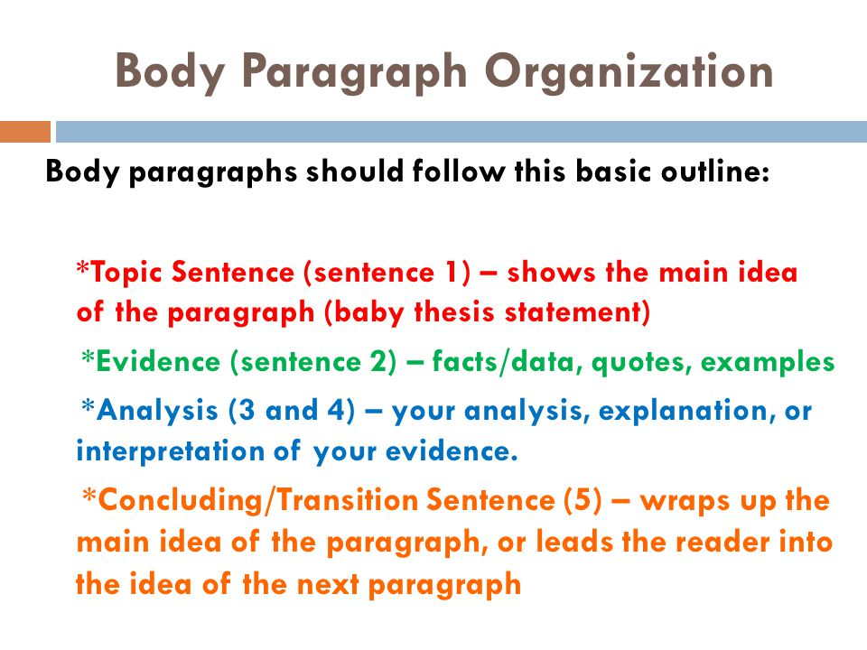 body paragraph thesis statement Paragraph 2: body paragraph paragraph 3: body paragraph  thesis statement : indicates your paper's topic, makes your paper's purpose clear, and provides.