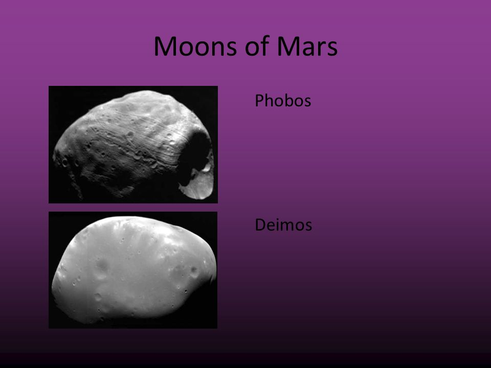 Moons of Mars Phobos Deimos