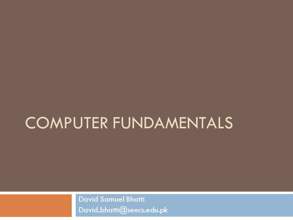 fundamentals in computer Fundamentals of computer science is a computer science course in the cty  program with one prerequisite, algebra 1 its course code is.