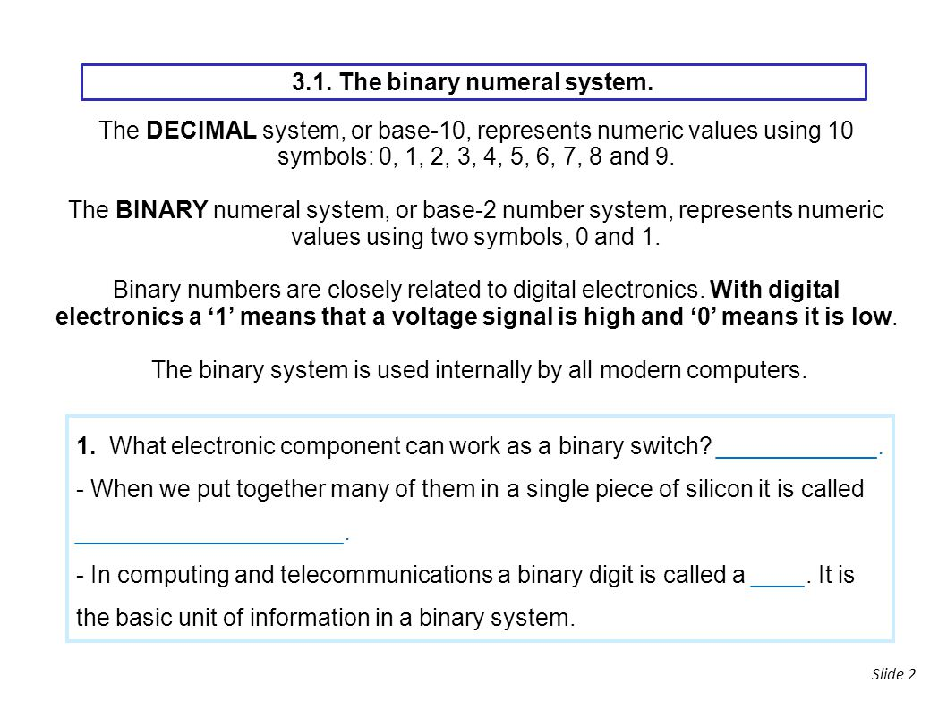 3 digital electronics ppt download the binary numeral system buycottarizona