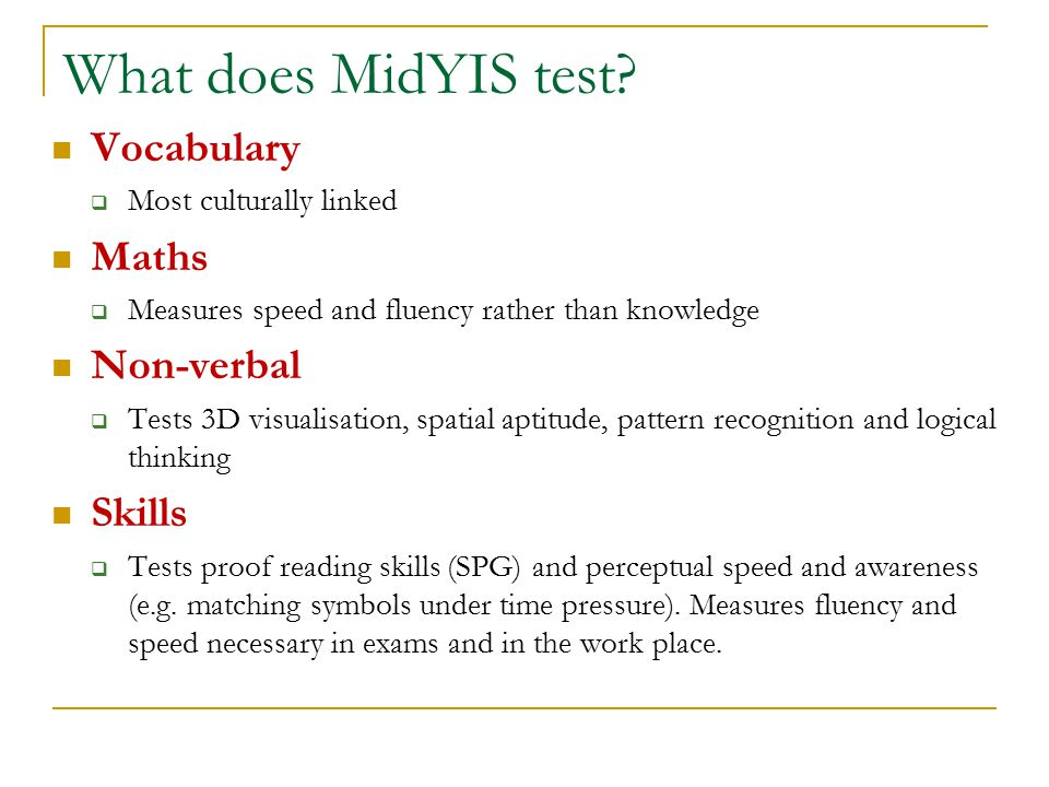 Using MidYIS to inform Teaching & Learning - ppt video online download