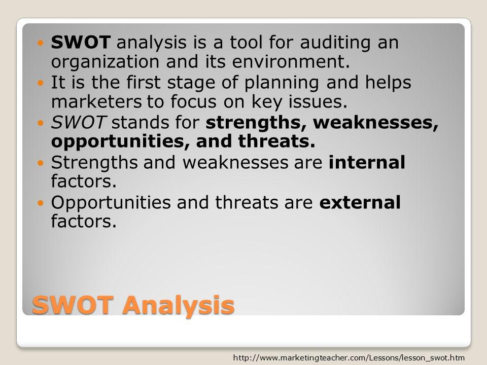 an analysis of the importance of planning in an organizational environment The swot is used to analysis internal and external environment when considering the strategic planning process, swot is playing a very important.