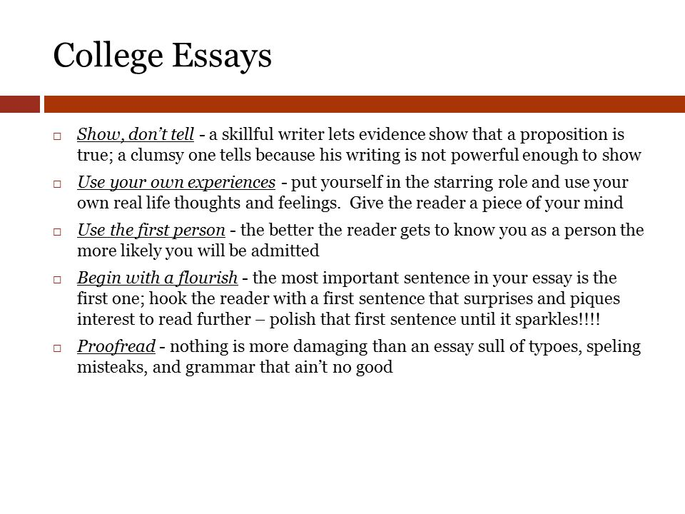 what are college essays about