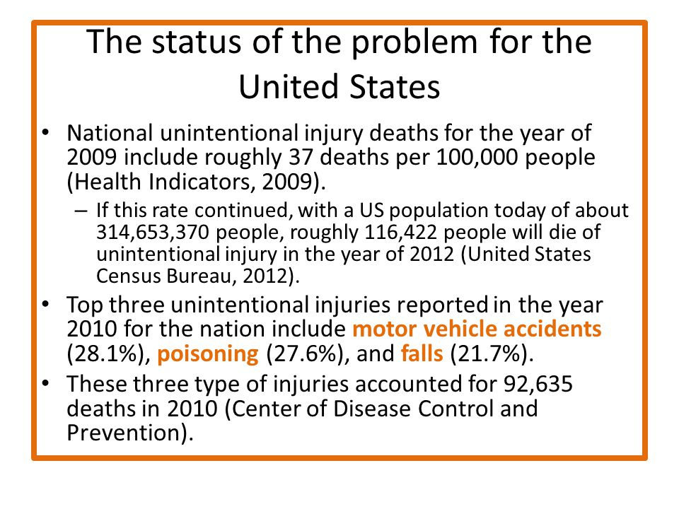 Injury and violence prevention ppt video online download - United states bureau of the census ...