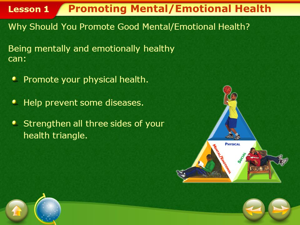 Promoting Mental/Emotional Health