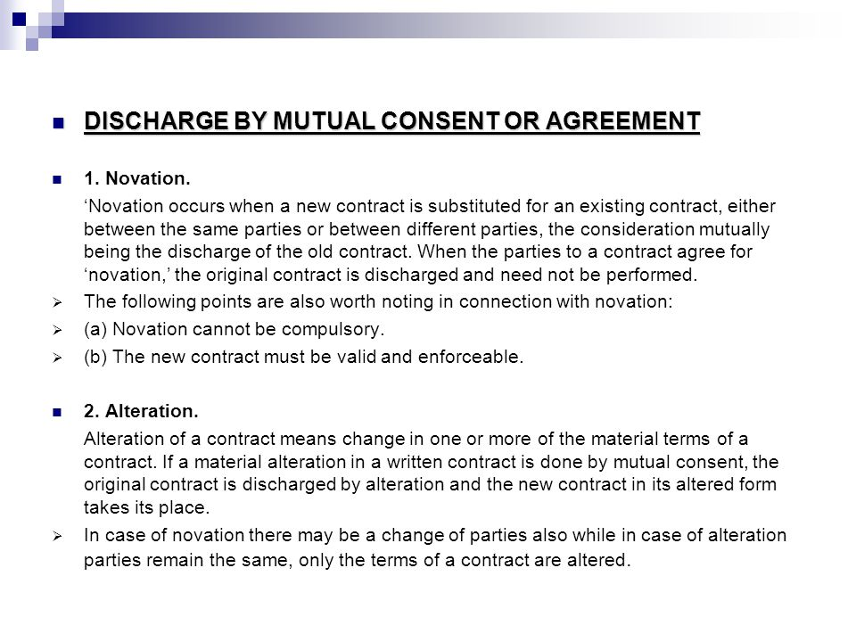 Discharge Of Contract. - Ppt Download