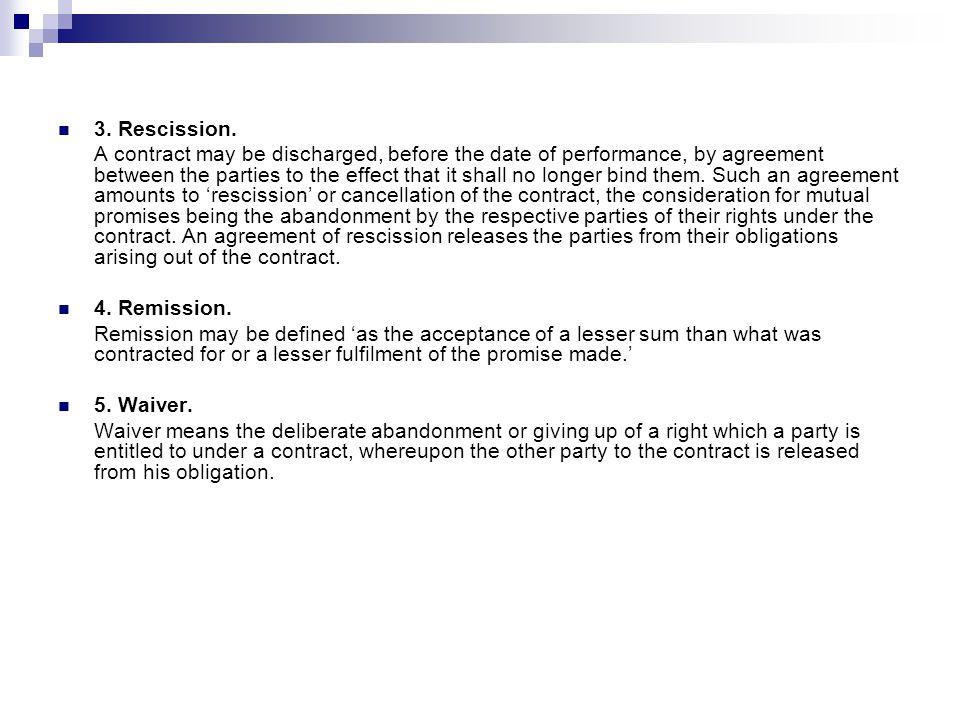 Discharge of contract ppt video online download rescission platinumwayz