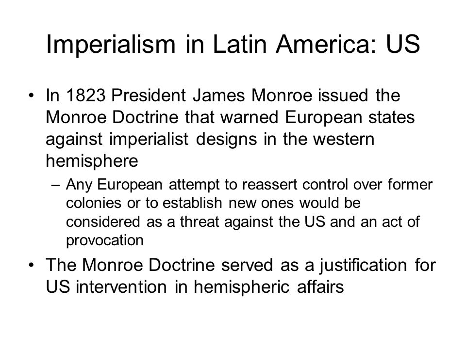 the control of european powers on the colonies in latin america Source for information on caste and class structure in colonial spanish america: encyclopedia of latin american history and culture dictionary  born friars for.