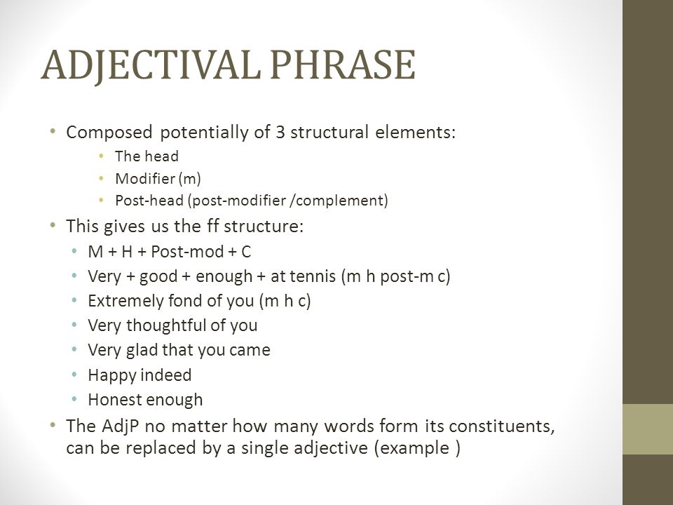 Adjectival/Adverbial Phrase - ppt video online download