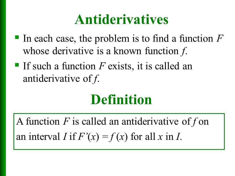 how to find the antiderivative of a composite function