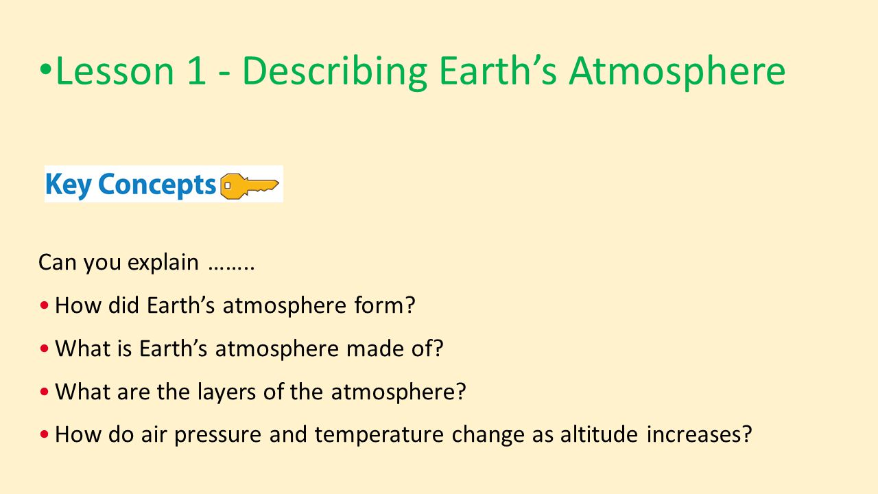 Earth's Atmosphere Chapter ppt video online download