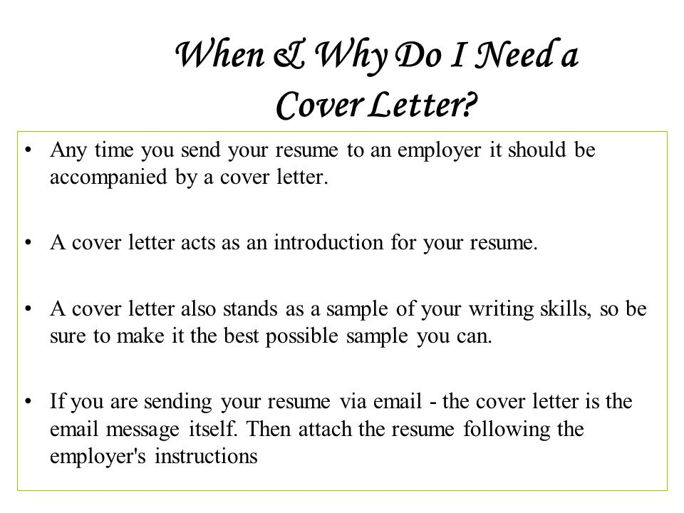 I need help creating a cover letter