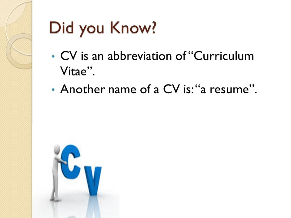 another name for a resume