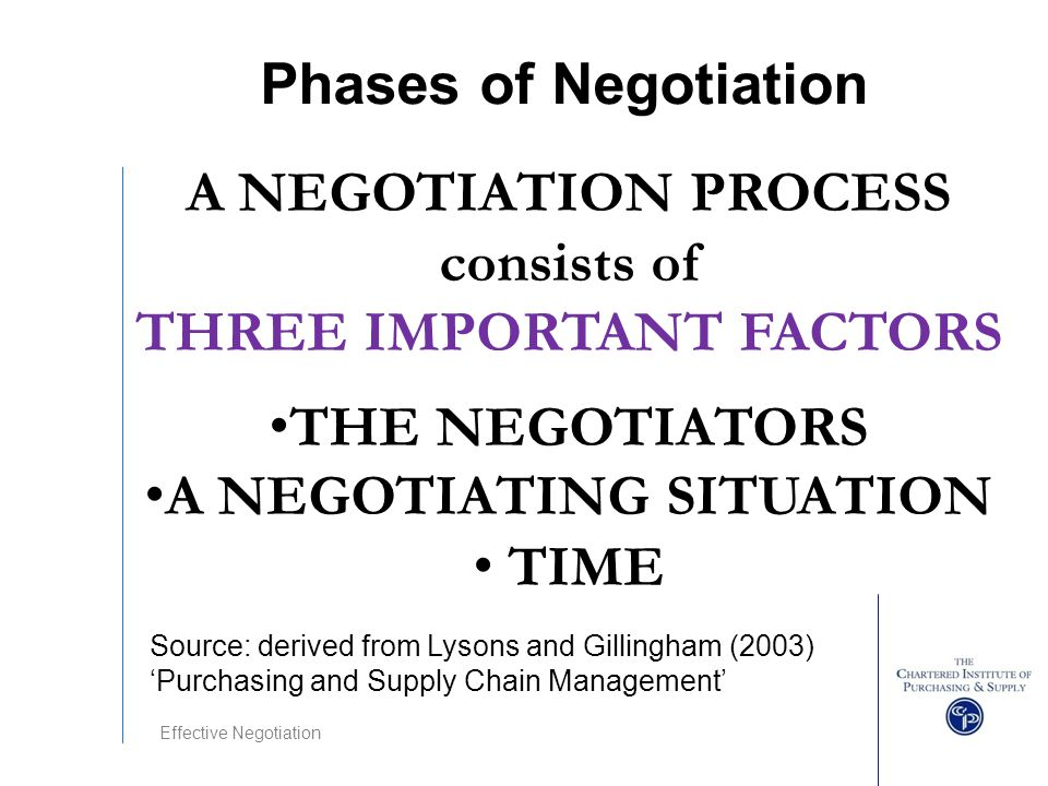 Strategic Supply Chain Management Negotiation