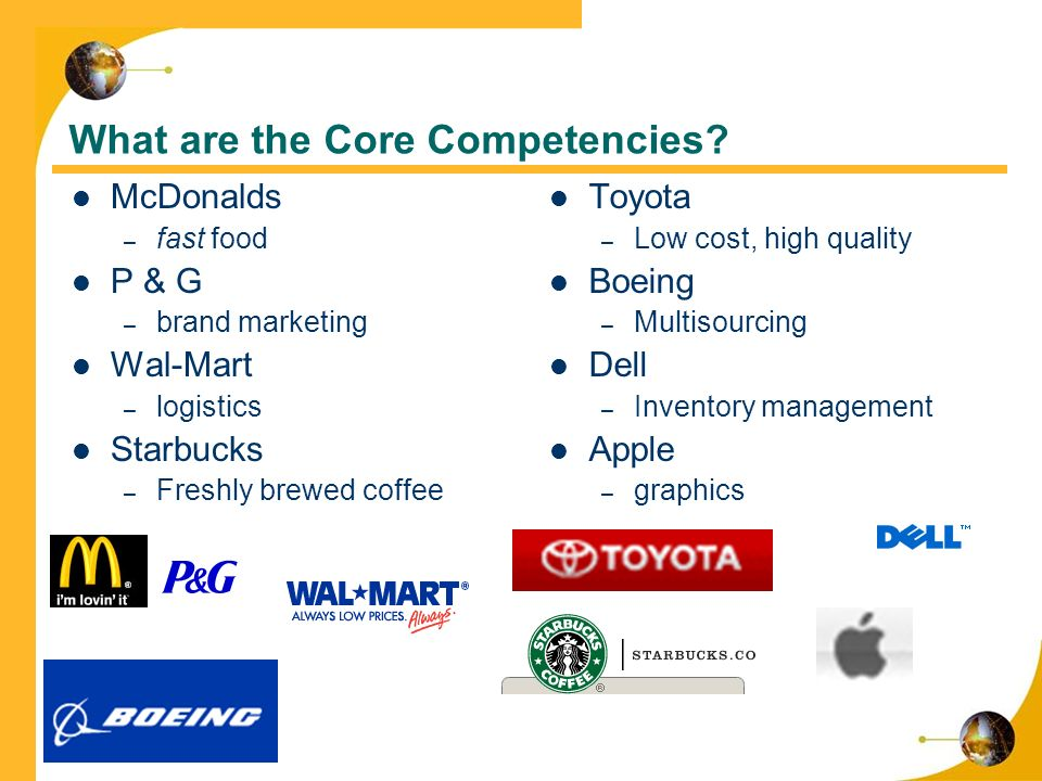 core competencies of starbucks The four customer experience core competencies  here is some additional content about the competencies: starbucks training should focus on.
