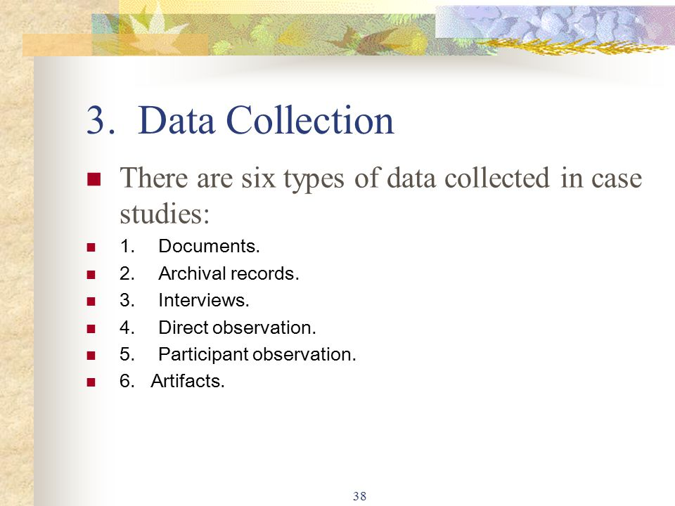 Data collection for case study