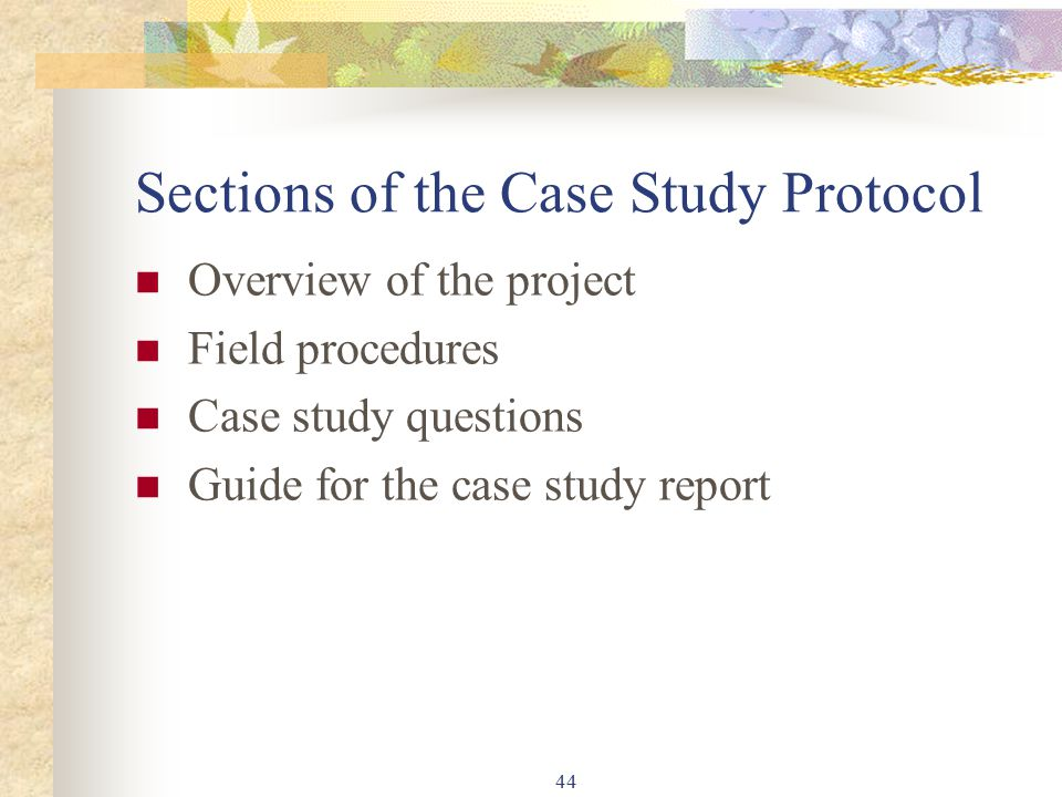 yin case study protocol Designing a case study protocol for application in is research case study protocol, case research instruments execution of case research (yin 1994.