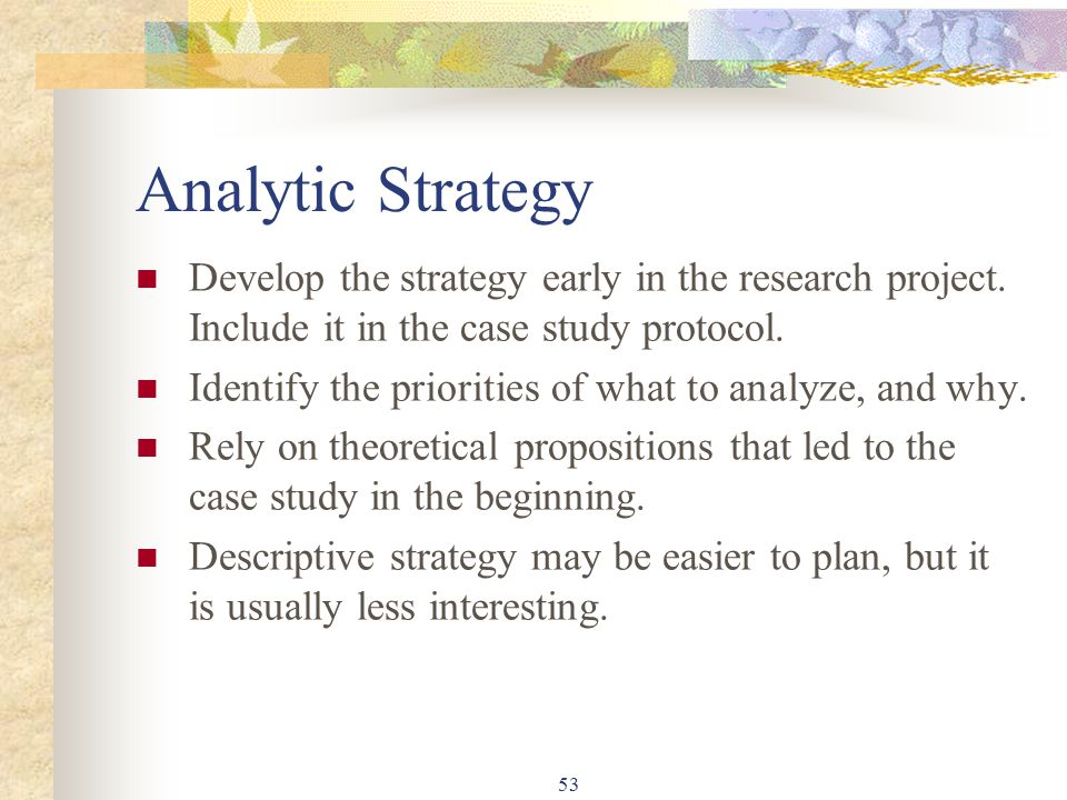 strategy case study questions E-tivity : case study: thinking about strategic planning task: read the case study under appendix 2 on strategic planning consider the suggestion made in the case study that, at this stage in their development, the group would benefit from having a strategic plan in place.