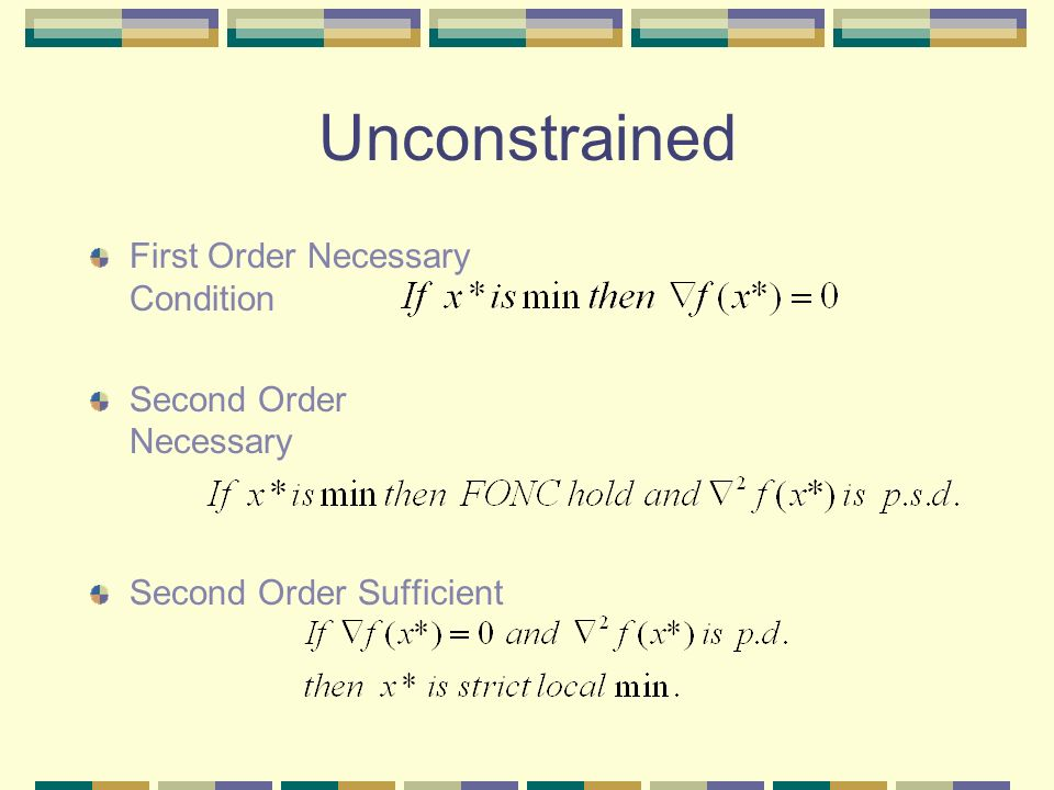 how to take first order condition