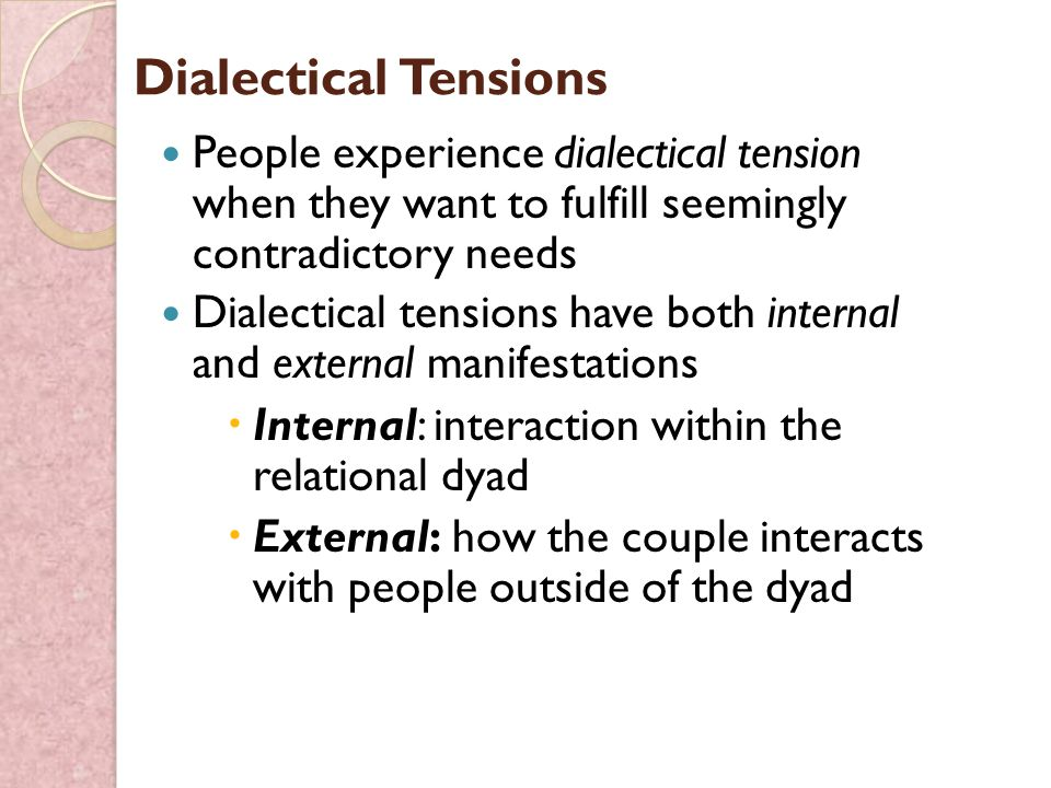 dialectical tension Rochester institute of technology rit scholar works theses thesis/dissertation collections 5-4-2015 communication considerations and relational dialectical tensions experienced by university.