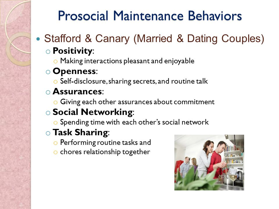 stafford and canary relationship maintenance