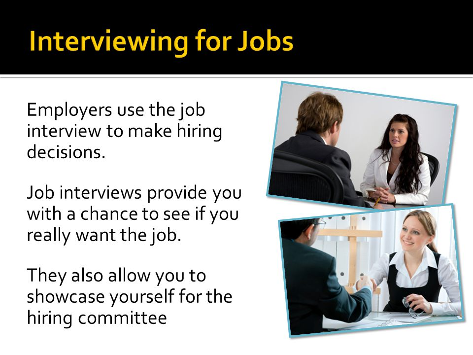 Interviewing for Jobs