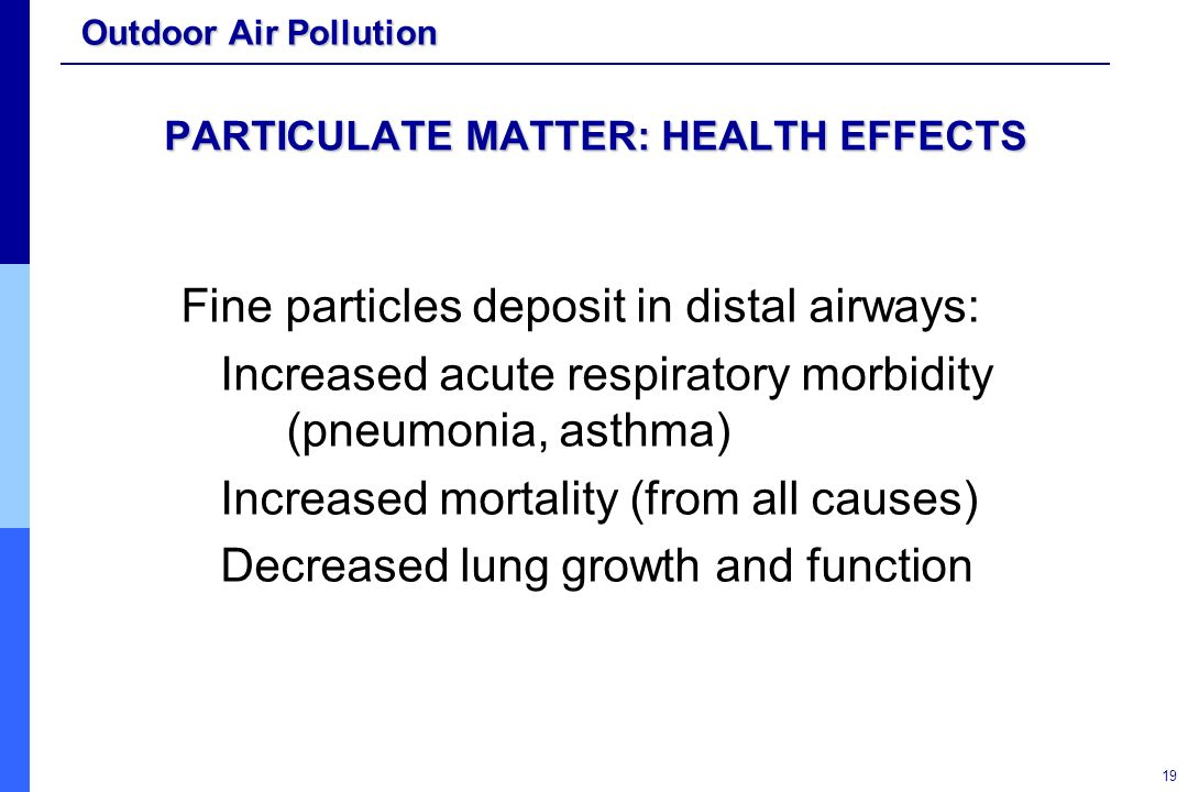 Particulate Matter (PM) Pollution