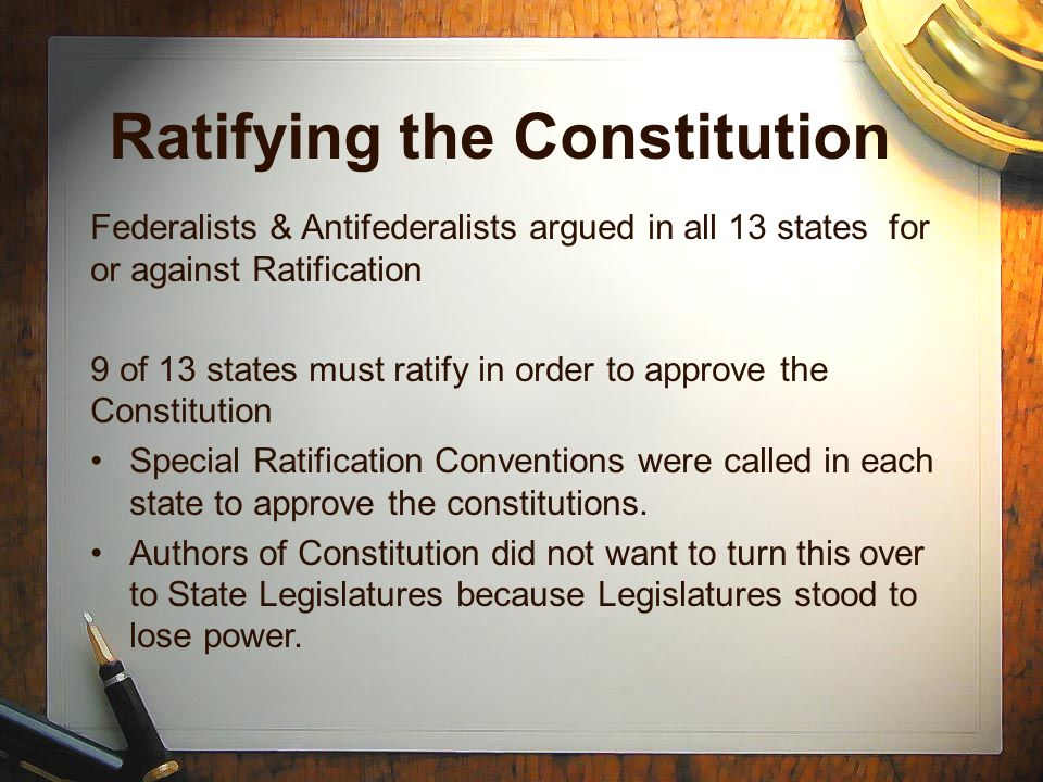 Ratifying the Constitu...