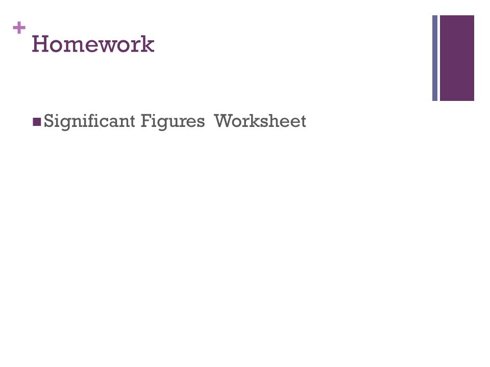 11 Homework Significant Figures Worksheet
