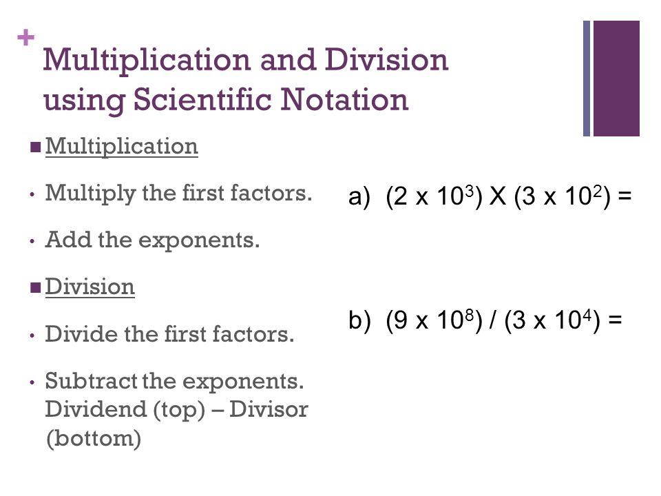 how to get calculator answer to scientific notation