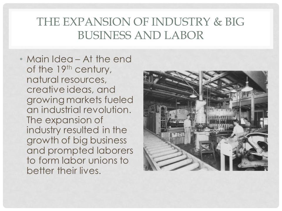development of labor unions as a result of the industrial revolution The first organization acting as a federation to encompass american unions was the national labor union which truly came into force after the civil war but was reasonably short-lived.