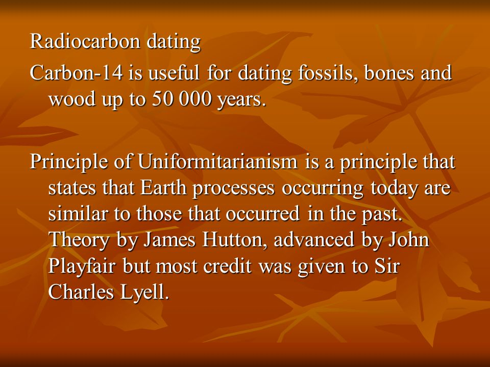Carbon dating 50 000 years