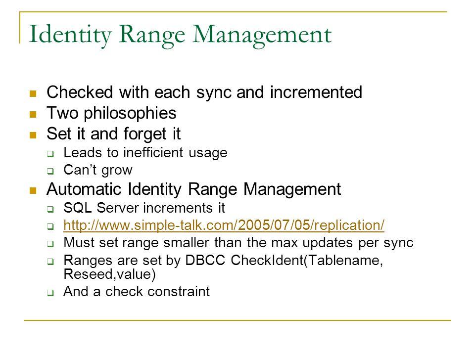identity value in sql server