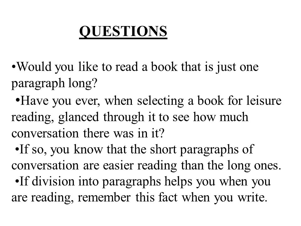 how to read and write a paragraph book