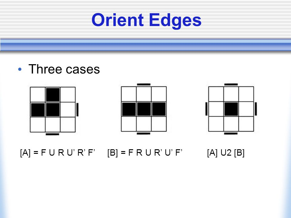 Orient Edges Three cases