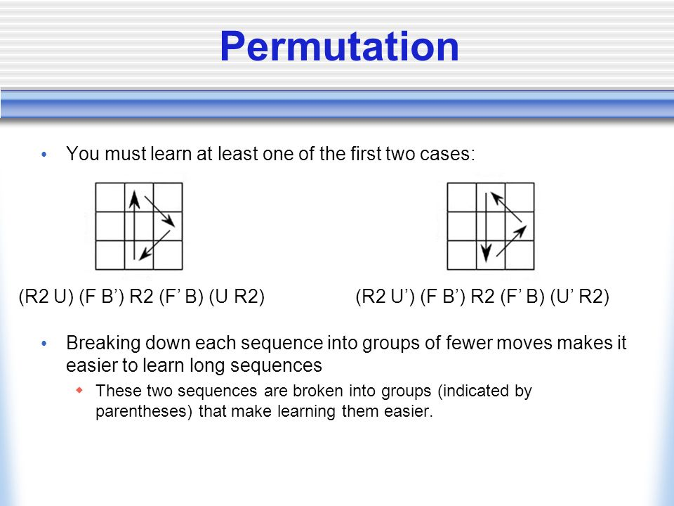 Permutation You must learn at least one of the first two cases: