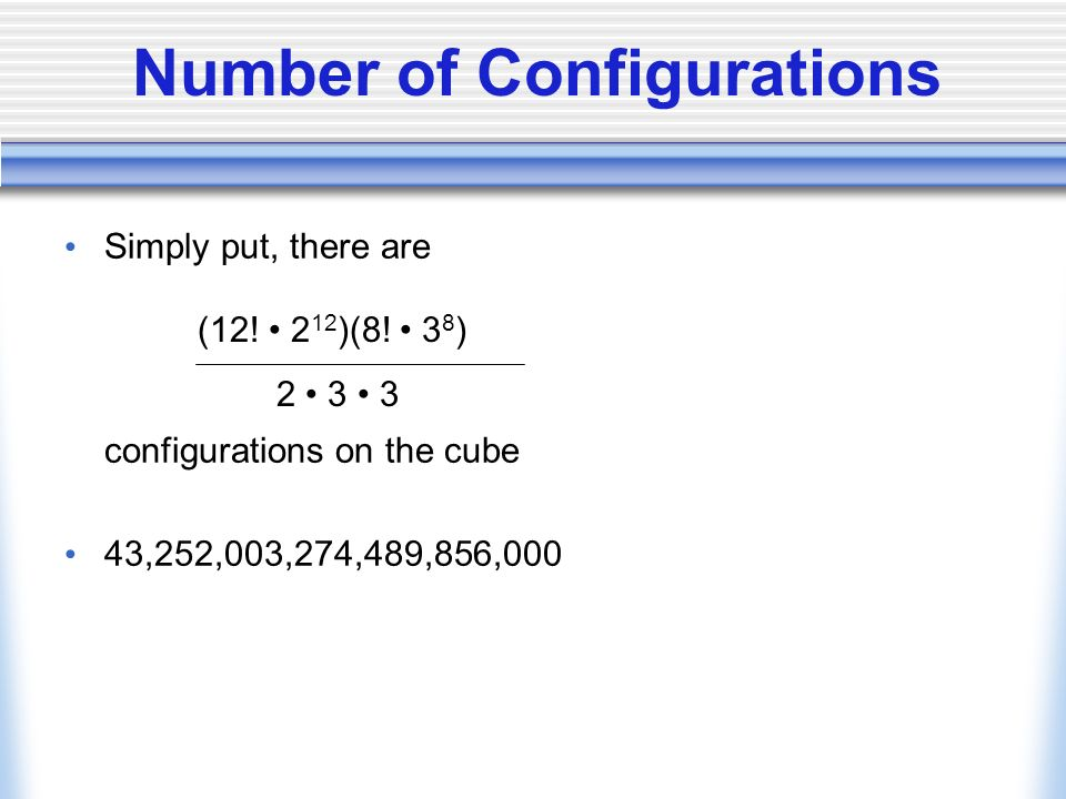 Number of Configurations