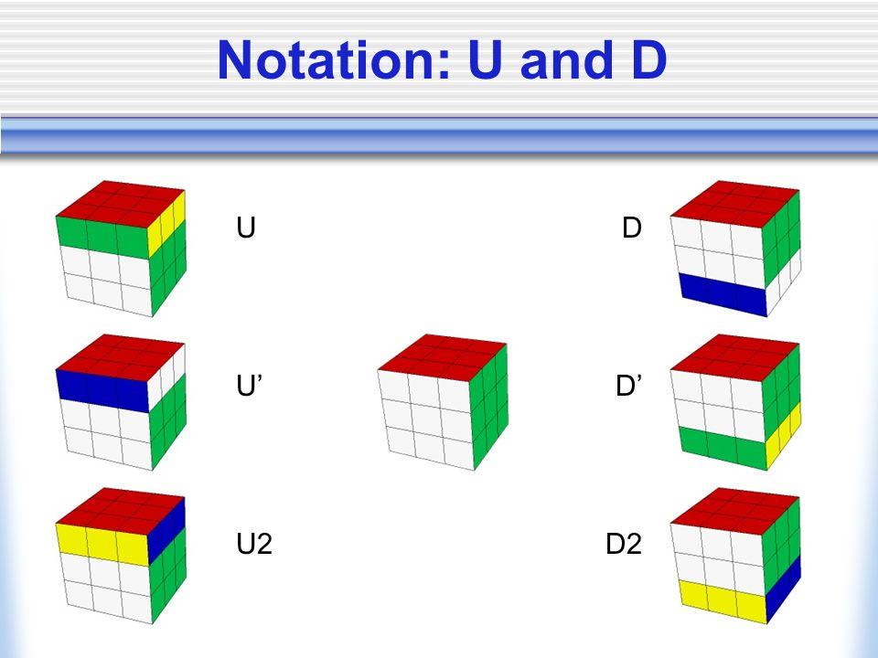 Notation: U and D U U' U2 D D' D2