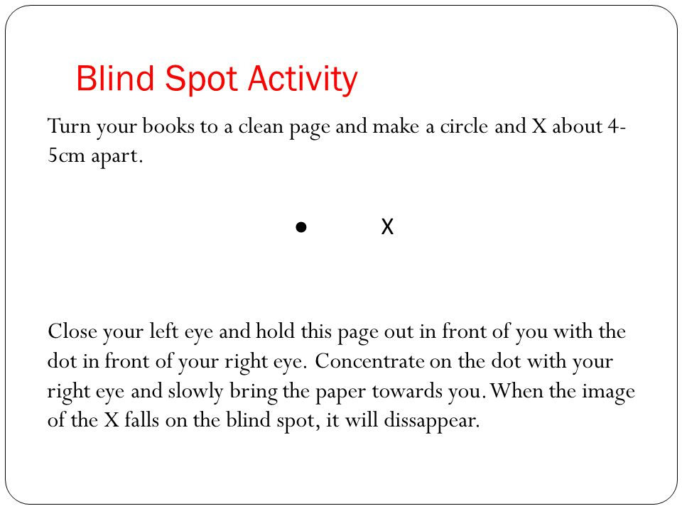 blind spot research paper The leadership blind spots at wells fargo  coupled with insights from my industry-wide research into the culture and mindsets of bankers, suggest there is a blind spot among senior.