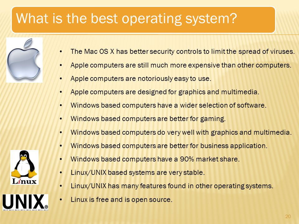 What is the best operating system