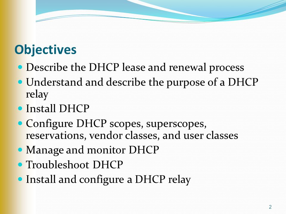 Dhcp Dynamic Host Configuration Protocol  Ppt Video Online Download