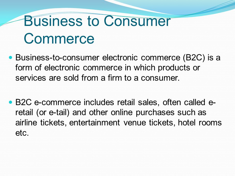 Business To Consumer  Ppt Video Online Download