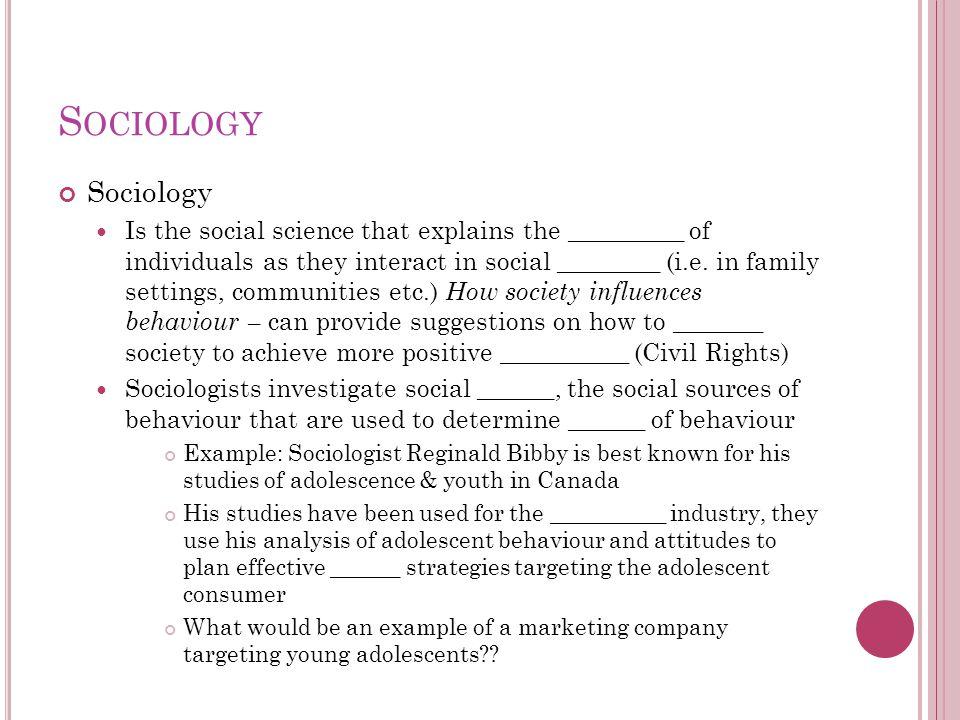 Sociology Sociology.