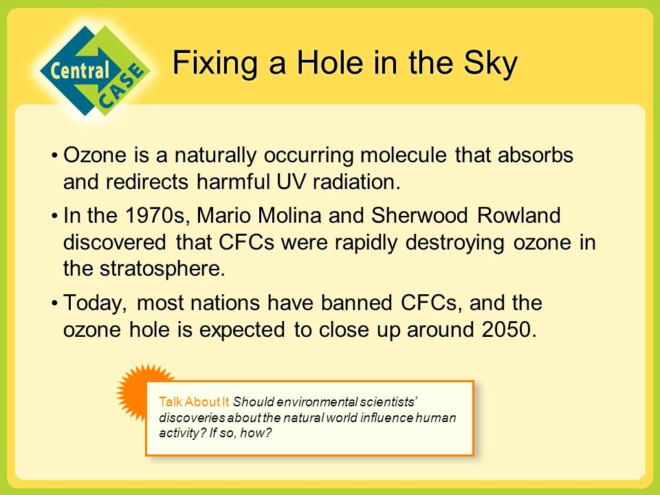 cfcs detroy the ozone essay